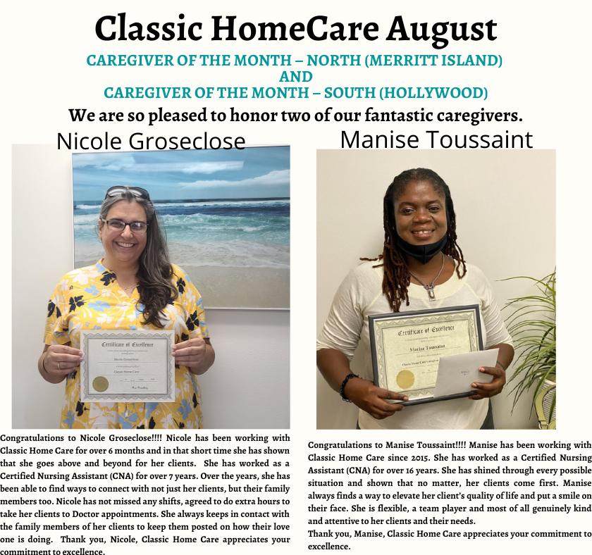Aug- Caregivers