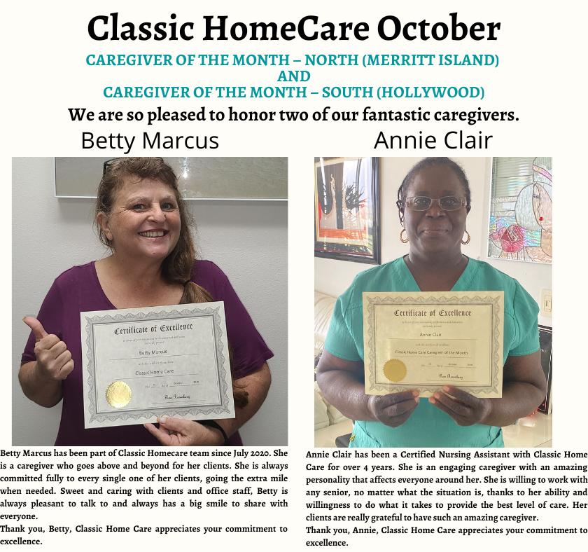 Oct Caregivers