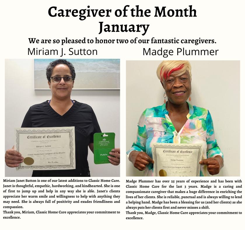 Jan Caregivers